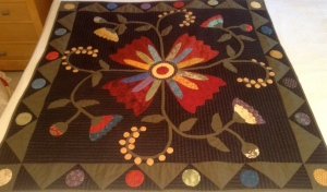 Colleen's Square Applique Quilt