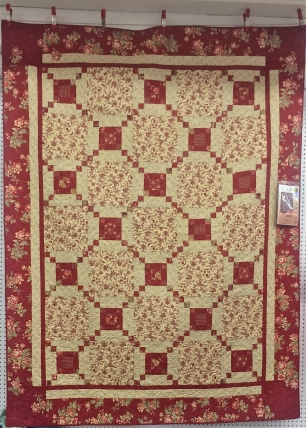 Red Irish Chain Quilt at Mary Jo's
