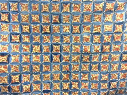 Stashing Sisters - Denim Cathedral Quilt by Kim