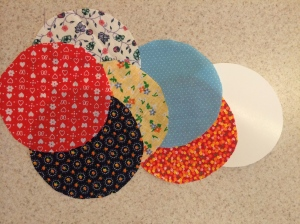 4 - 5 Inch Diameter Fabric Circles and Poster Board Template