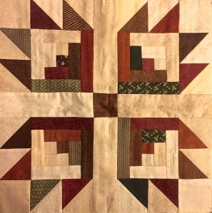 Stashing Sisters Quilt Guild - Lob Cabin Block by Bridgette Creviston