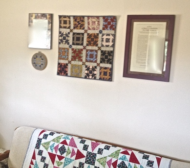 Emily' s Living Room Wall with Quilt Projects