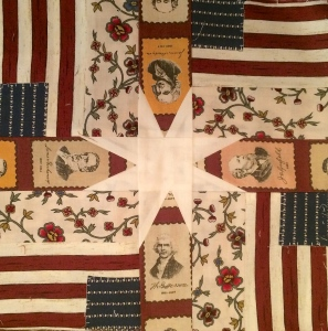 'Flags & Star' Quilt Block by Ginger