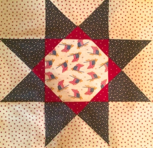 Flags in Star Quilt Block
