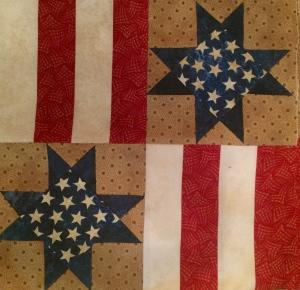 'Stars & Stripes' Quilt Block
