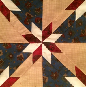 Americana Red & White Star Quilt Block