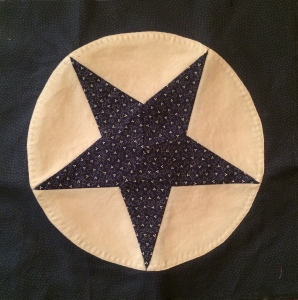 Americana Blue Star Circle Quilt Block