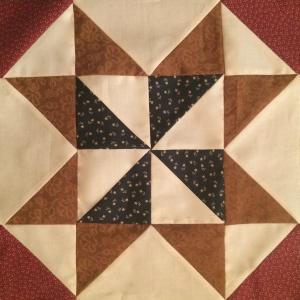 Americana Pinwheel Star Quilt Block