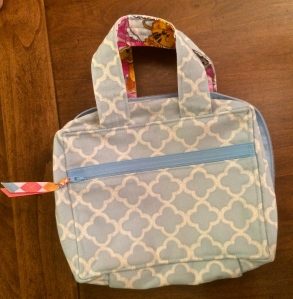 Blue Zippered Scripture Tote
