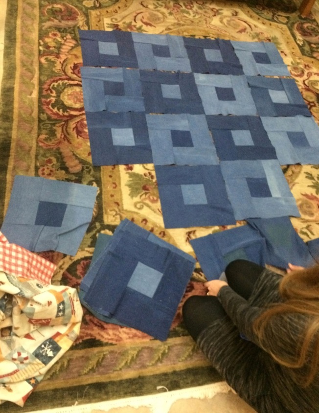 Denim Picnic Quilt Assembly
