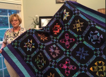 Black & Blue Block Sampler Quilt