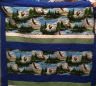 Throw Quilt with Eagle's View