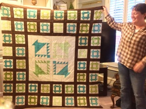 Churn Dash & Basket Quilt by Bridget