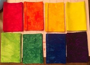 Batik Fabric Color Pieces